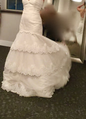 Tara Keely '2052' size 4 new wedding dress view of body of dress