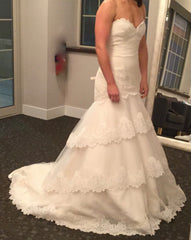 Tara Keely '2052' size 4 new wedding dress side view on bride