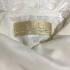 Nicole Miller 'Strapless Ruched' size 12 sample wedding dress view of tag
