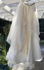 BHLDN 'Lowell Skirt' size 6 new wedding dress front view on hanger