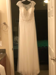 Alfred Angelo' 8555' size 14 new wedding dress front view on hanger