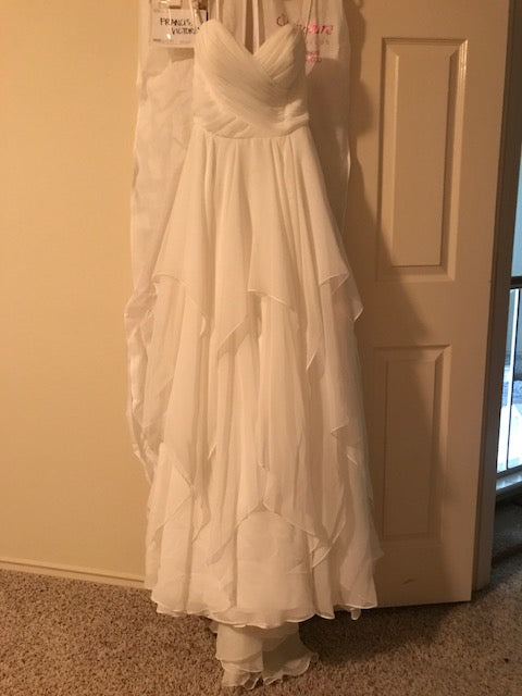 Essence of Australia '1799' size 4 used wedding dress front view on hanger