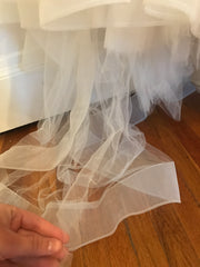 Lazaro 'Princess' size 6 used wedding dress view of tulle