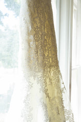 Allure Bridals 'Lace Mermaid' size 6 sample wedding dress view of train