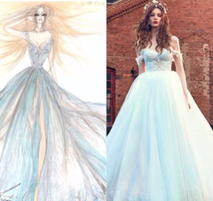 Galia Lahav 'Cinderella' size 0 used wedding dress sketch/view on model
