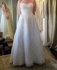 Judd Waddell 'Dusty' size 6 sample wedding dress front view on bride