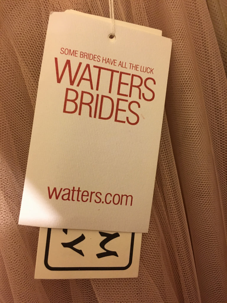 Watters 'Ahsan Skirt' size 8 new wedding dress view of tag