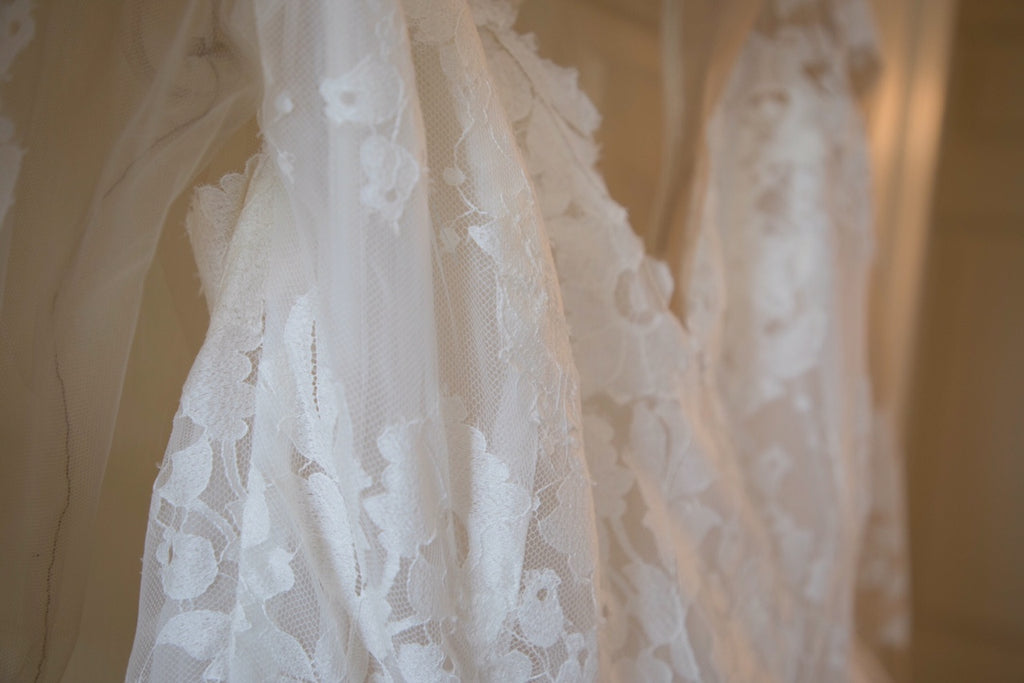 Hayley Paige 'Elysia' size 14 used wedding dress close up of view