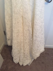 Demetrios '1443' size 4 used wedding dress view of hemline