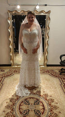 Anjolique  Bridal 'Crystal' size 14 new wedding dress front view on bride