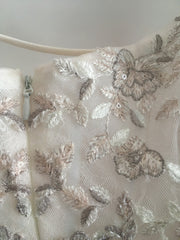 Melissa Sweet 'Embroidered and Beaded' size 14 new wedding dress view of fabric