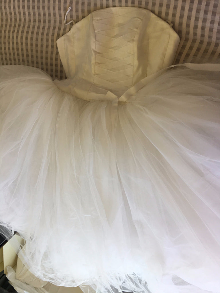 Richard Glasgow 'Tulle' size 8 used wedding dress back view flat