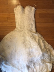 Allure Bridals '8958' size 12 used wedding dress viewed flat