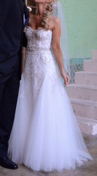 Monique Lhuillier 'La Duree' - Monique Lhuillier - Nearly Newlywed Bridal Boutique - 4