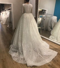 Lazaro 'Cinderella' size 4 used wedding dress back view on bride