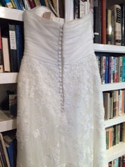 White one 'Lace Dress' - W1 - Nearly Newlywed Bridal Boutique - 2