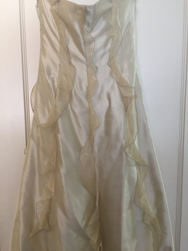 Valentino 'Taffeta  Dress' size 12 used wedding dress back view on hanger