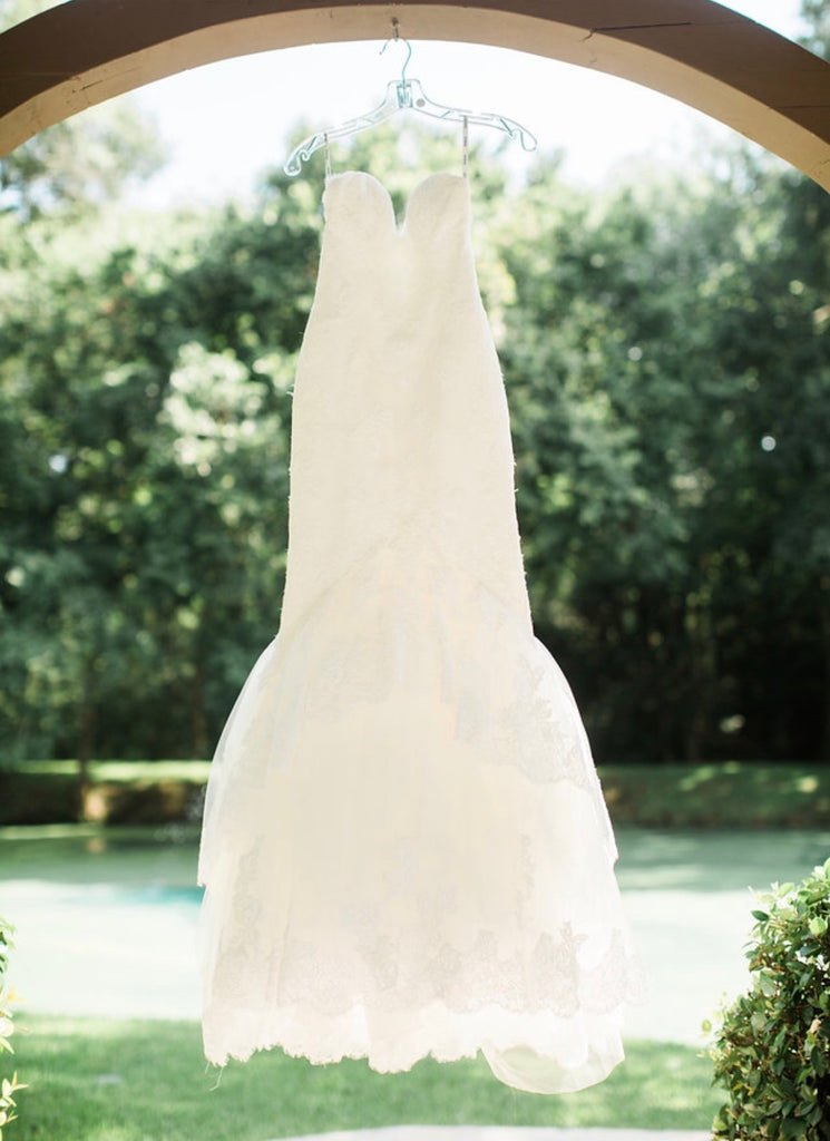 Enzoani 'Jodie' size 4 used wedding dress front view on hanger