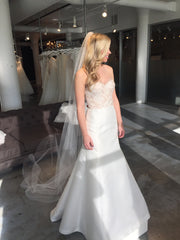 Lela Rose 'The Harbour' size 4 sample wedding dress front view on bride