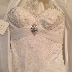 Ivory, Beaded, NWT, Size 6 - Elizabeth Ann - Nearly Newlywed Bridal Boutique - 5