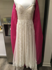 Ti Adora by Allison Webb ' 7652' size 12 used wedding dress front view on hanger