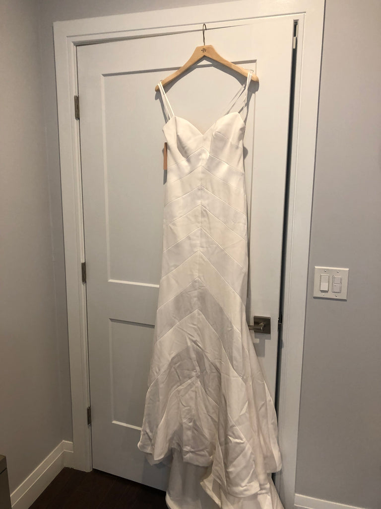 BHLDN 'Emblem' size 4 new wedding dress front view on hanger