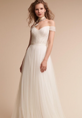 BHLDN 'Heaton' size 0 new wedding dress front view on model