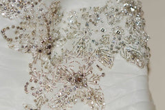 Allure Bridals 'Sweetheart' size 18 used wedding dress close up of beading