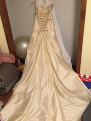 Sophia Tolli 'Olivia' size 8 used wedding dress back view on hanger
