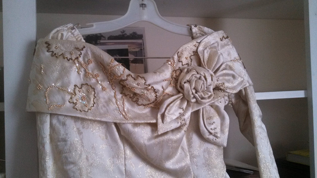 Custom 'Gold Brocade' - unknown - Nearly Newlywed Bridal Boutique - 3
