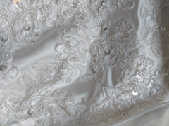 Mingdas 'Long Sleeve' size 4 new wedding dress view of material