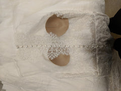 Lian Carlo' 6885' size 10 used wedding dress view of back
