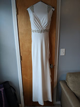 Load image into Gallery viewer, Eddy K. '1132' size 8 used wedding dress front view on hanger