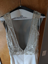 Load image into Gallery viewer, Eddy K. '1132' size 8 used wedding dress back view close up