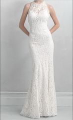 Madison James '18' size 8 used wedding dress front view on model