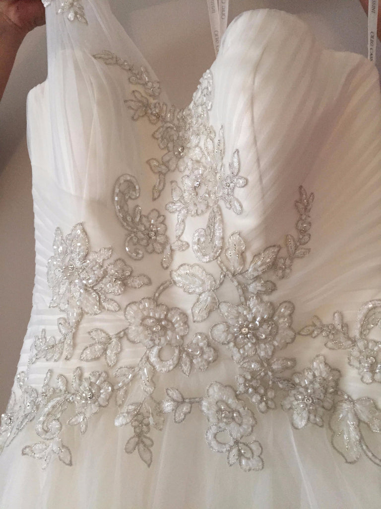 Oleg Cassini 'One Shoulder' - Oleg Cassini - Nearly Newlywed Bridal Boutique - 3