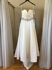 Mori Lee '5266' size 16 sample wedding dress front view on hanger