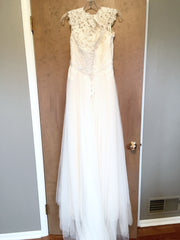 Maggie Sottero 'Patience Lynette' size 12 new wedding dress back view on hanger