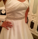 Lis Simon 'Daisy' size 4 used wedding dress front view on bride