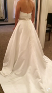 Lis Simon 'Daisy' size 4 used wedding dress back view on bride