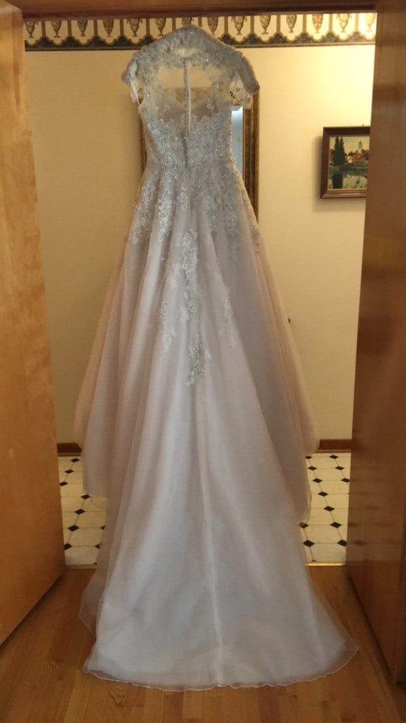 Justin Alexander '8726' size 10 used wedding dress back view on hanger