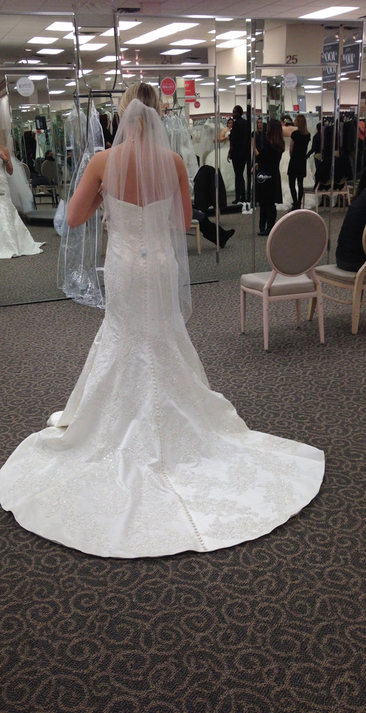 Oleg Cassini 'Satin' - Oleg Cassini - Nearly Newlywed Bridal Boutique - 2