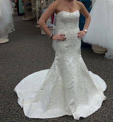 Oleg Cassini 'Satin' - Oleg Cassini - Nearly Newlywed Bridal Boutique - 3