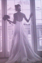 Vera Wang Tulle V-Neck Open Back - Vera Wang - Nearly Newlywed Bridal Boutique - 3