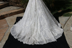 Bonny Bridal '8511' size 10 sample wedding dress view of train