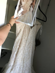 Mori Lee 'Lace' size 8 new wedding dress back view on hanger