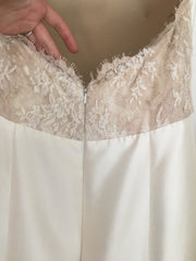 Lela Rose 'The Harbour' size 4 sample wedding dress back view close up on hanger
