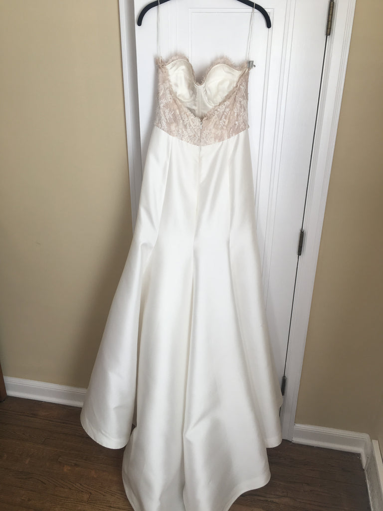 Lela Rose 'The Harbour' size 4 sample wedding dress back view on hanger
