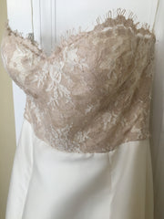 Lela Rose 'The Harbour' size 4 sample wedding dress front view close up on hanger