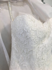 Ines Di Santo 'Estee' size 4 used wedding dress front view close up on hanger